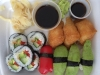 Veggo sushi med bla paprika och tofu