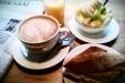 Lördagsfrukost på Frankfurt: total harmoni.