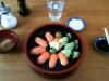 Snyggt presenterad sushi