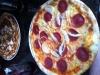 Två av pizzorna