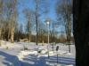 Även vintertid används platsen som minneslund