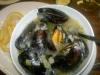 Färska musslor m aioli och pommes. Mums!
