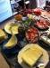 En del av frukostbordet. sju ostar