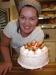Malin Granholm med bagarns tårta! Foto: Anne-Sofie Holmberg