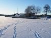 Våfflan sedd från ute på Isen den första snöpromenaden 2011...