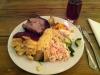 Lunch - Helgrillad karré av Gotlandsgris. Gott! Pris - i stil med vad man betalar runt Stureplan.