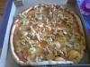 Pizza med kyckling   banan.