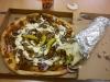 Kebabpizza och skitstor gyrosrulle.