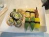 11 bitar vegetarisk sushi för 83 kronor.