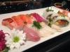 Vacker 13-bitars sushi.