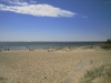 Finkornig sand och klart vatten :)
