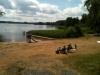 Inte mycket folk på Bunnströmsbadet en julidag 2010.