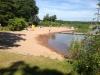 Sandstrand vid Ekenäs badplats