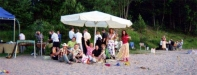 Vi firade 30 årskiva med LUAU på stranden