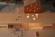 Amhults kyrka. Detta är en arkitektmodell på den kyrka som ska börja byggas under 2013.
