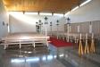 Entréhallen binder samman de båda kapellen.