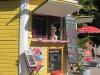 Mysigt café vid sjön Trekanten