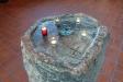 Stenen i Kryptan kan fungera som altare.