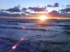 Solnedgång från Havsbadsstranden en kväll i April