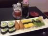 Tolv bitar vegetarisk sushi för 85 kronor.