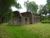 Stor del av murverket är bevarat.