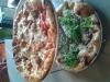 dagens flatbread: chorizo och quattro formaggi