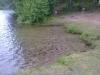Klarsjön gör skäl för sitt namn. Idag råder lugnet här.