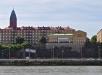 Sjömanskyrkans huvudentré vid Amerikagatan 2. Eget foto.