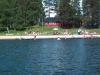 Änäsets camping sett från vattnet.