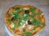 Mozzerella rucola pizza
