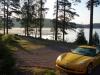 Sommarbilen vid lillsjön