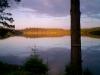 juli kväll vid lillsjön