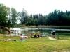 Vy över badbryggan 6:e juni 2011