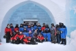 Snowmobile ice hotel tour at Campalta