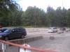 Stor parkering plats