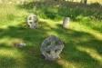 Några riktigt gamla gravstenar finns kvar