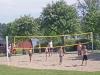 Det finns även beachvollyboll inom området.
