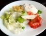 Vitlöksdressingen till den fräscha salladen hade de garanterat gjort själva...så himmelskt god!