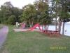 Lilla lekplatsen samt toan i bakgrunden