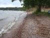 Taget 120610. Bättre sandbotten i vattnet.