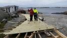 Här bygger vi spången som ska gå runt hela anläggningen