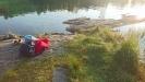 Blev belönad med en egen udde efter att ha en bit längs med sjön!