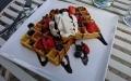 Min dessert belgiska våfflor