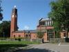 Lundby nya kyrka på Hisingen. I källaren under kyrkan ligger vår fina Second hand. Välkomna in!