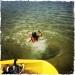 Dyk från trampbåt