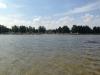 Som synes har vi gått rätt långt ut och vattnet nådde till vaderna ungefär.