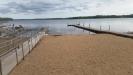 Den lilla sandstranden. Västersjön.