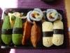 11 bitar vegetarisk sushi för 73 kronor.
