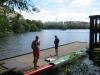Just denna dag hade kanotfolket tagit över bryggan.