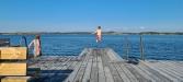 Perfekt att hoppa från bryggan!